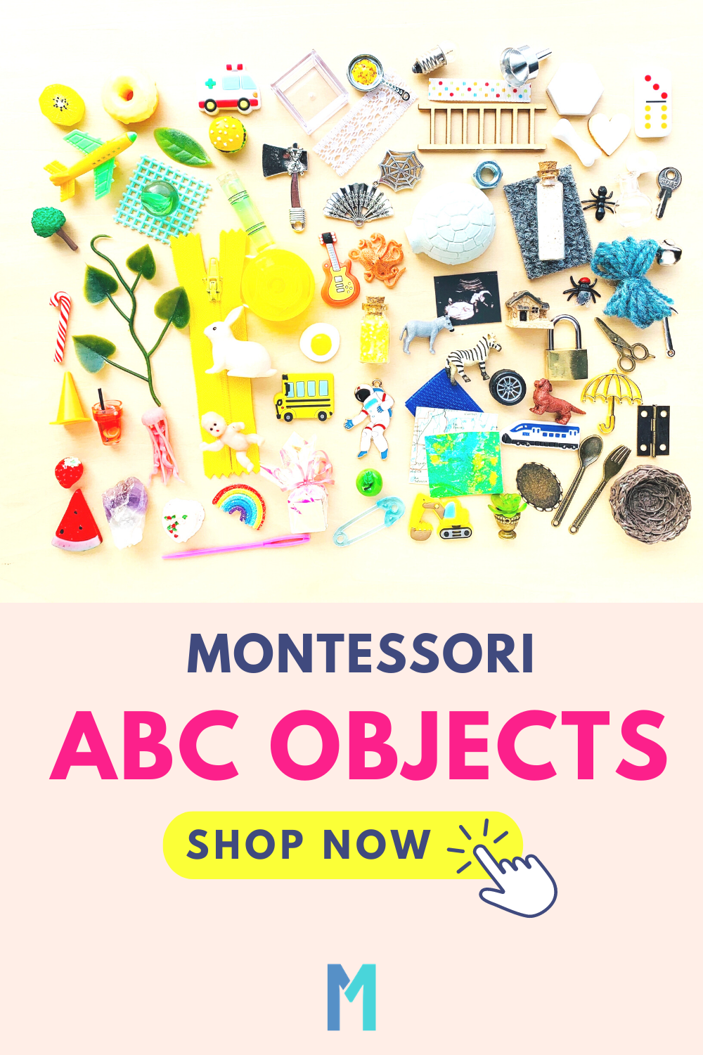 Alphabet Objects Sets for Montessori Language Activities