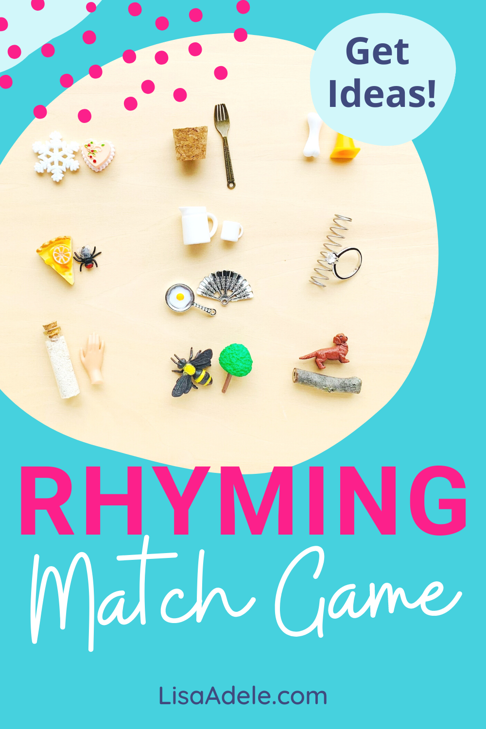 Rhyming Objects Word Matching Game