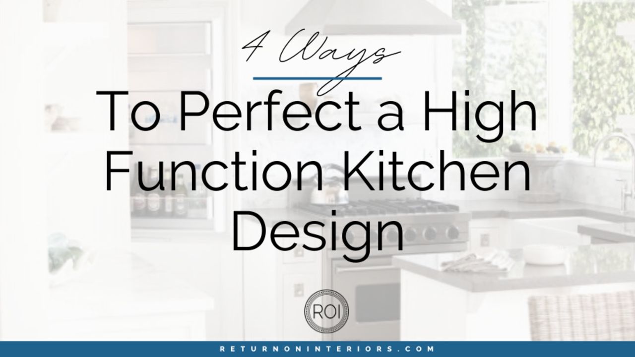 high functioning kitchen