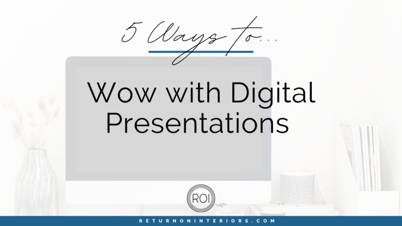 wow with digital design presentations