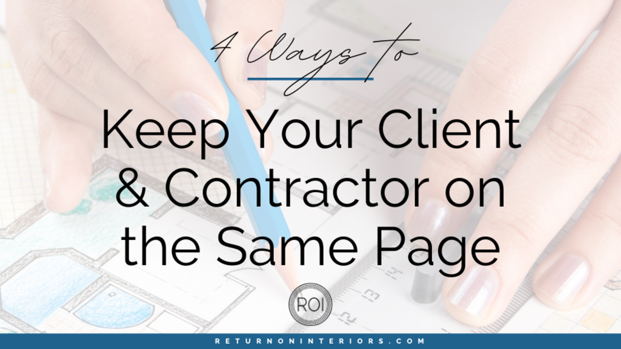 client and contractor communication
