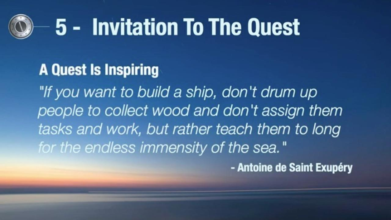 Antoine de Saint Exupery quote about inspiration: