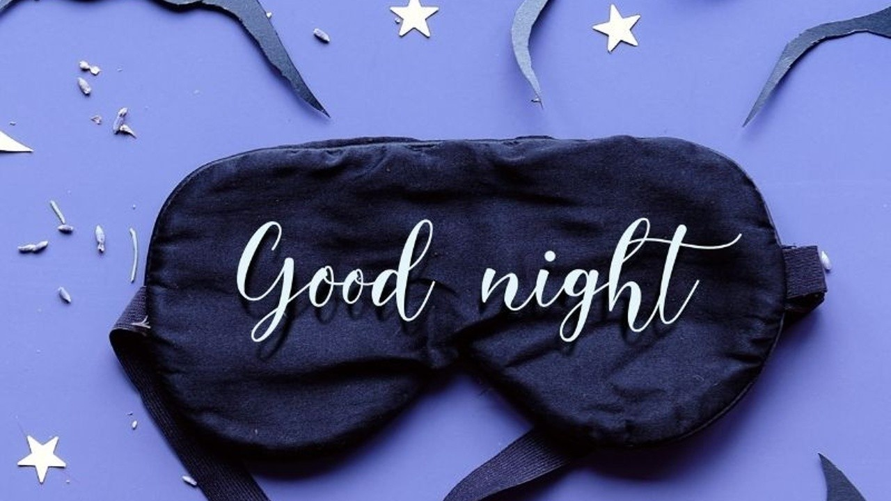 Image of Eye Mask with the words good night