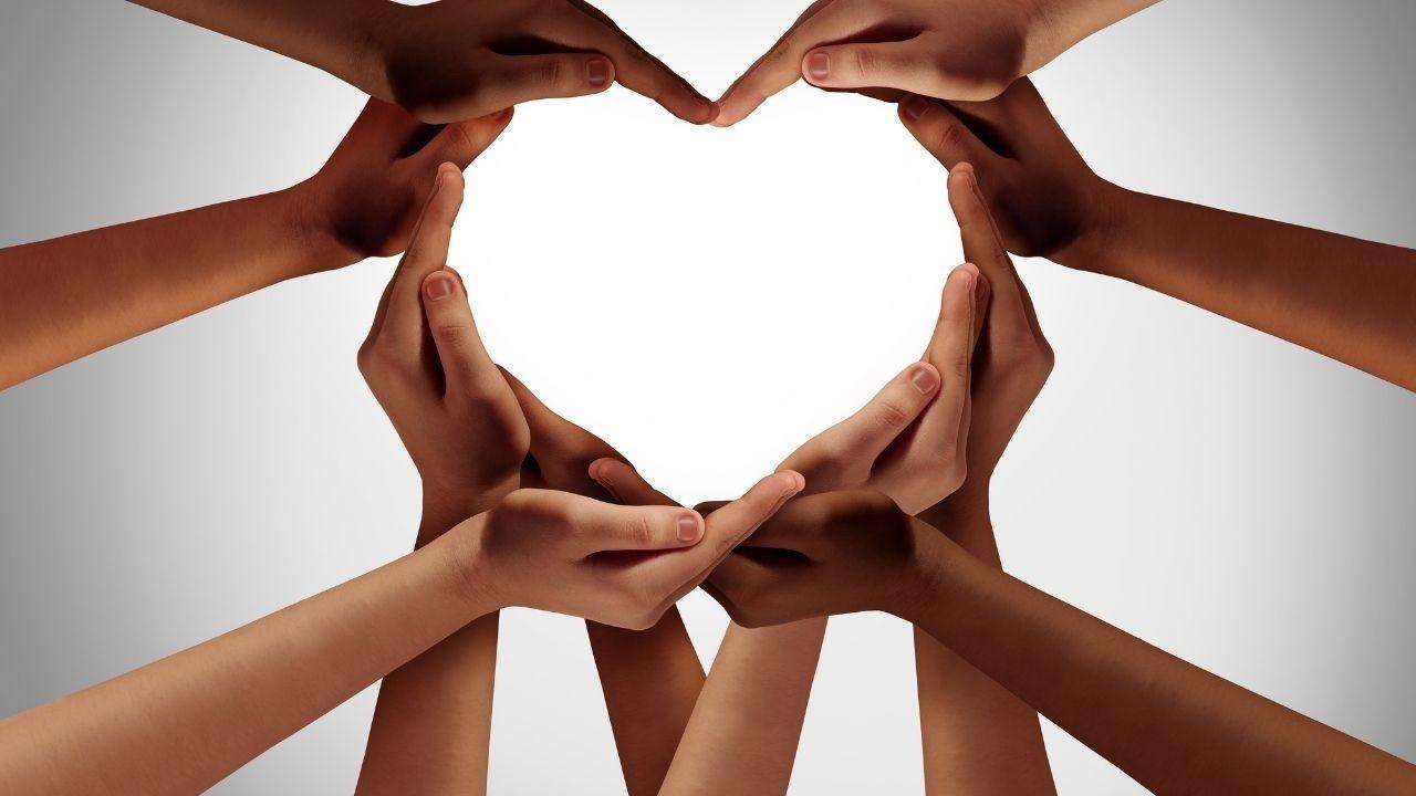 Hands Shaped like a heart symbol
