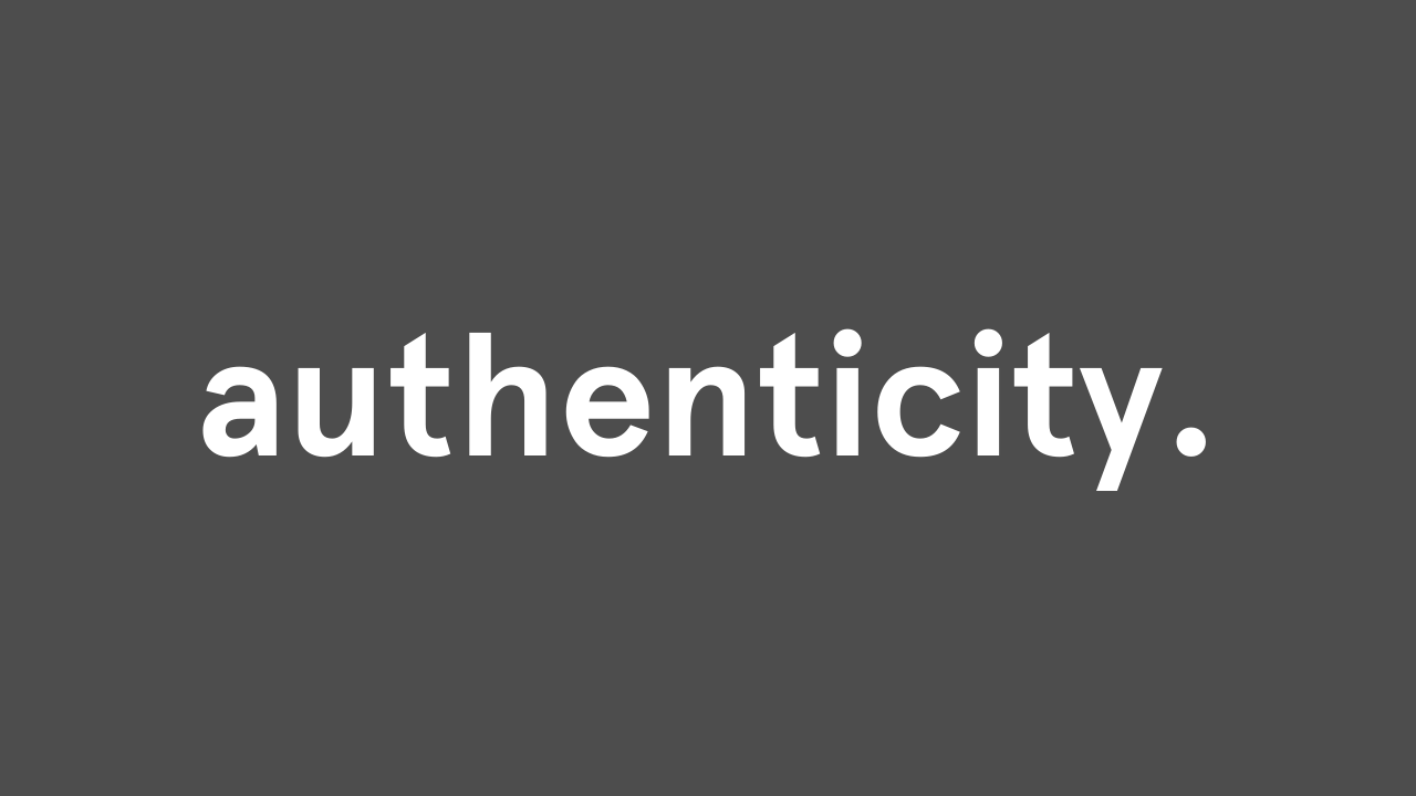 authenticity accent