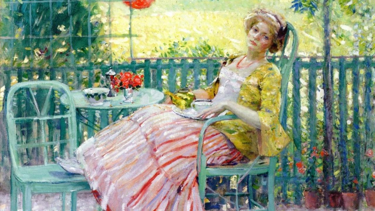 Lady On The Veranda