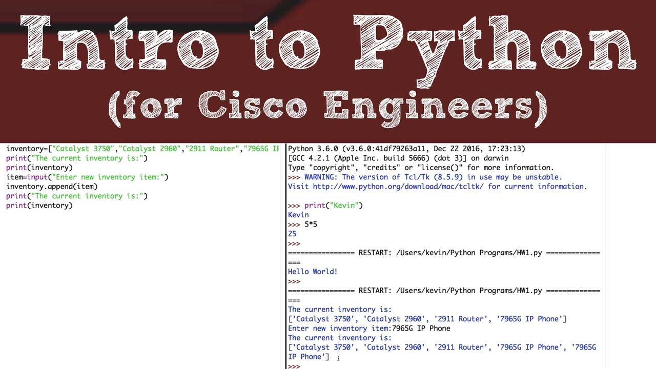 Introduction to Python for Cisco Network Professionals