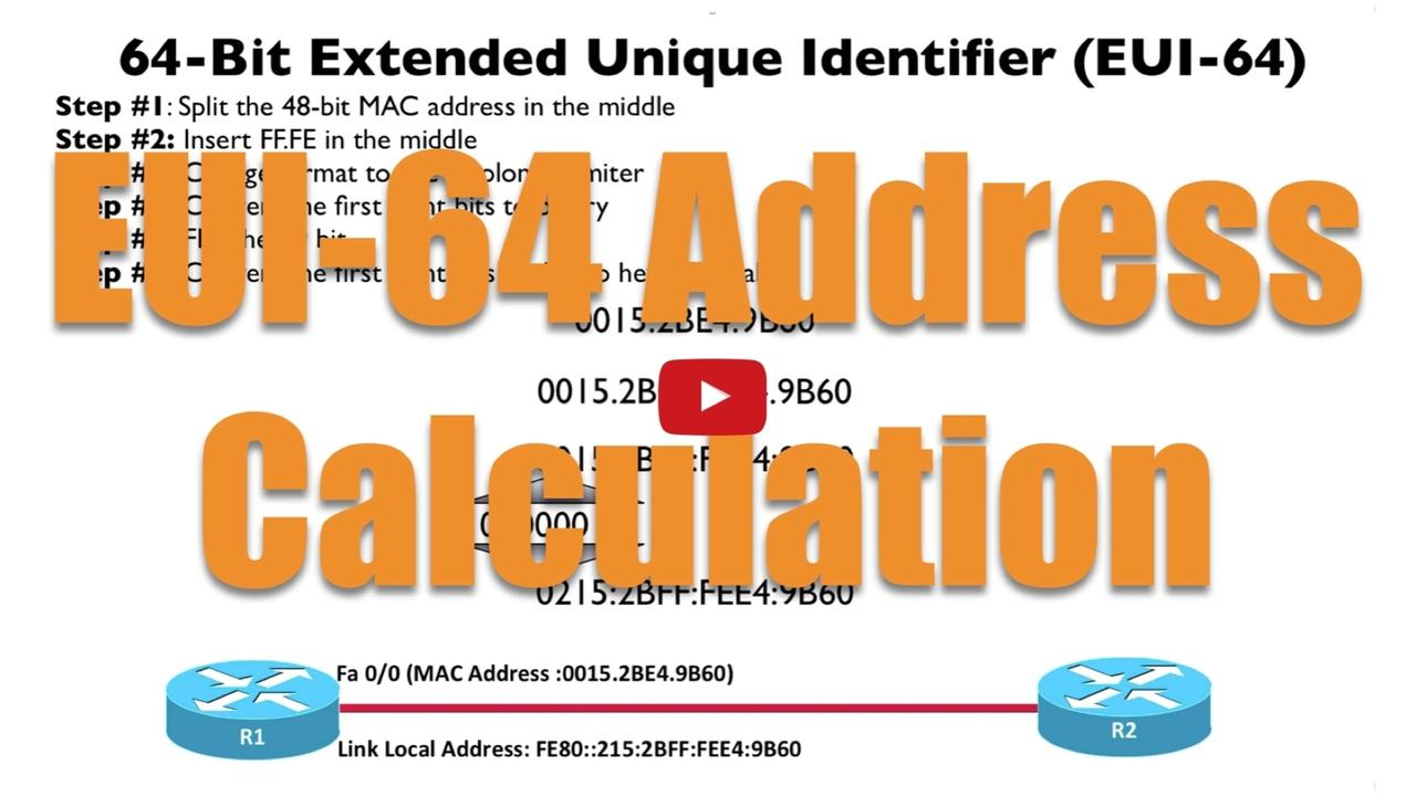 How to Calculate an EUI-64 Address