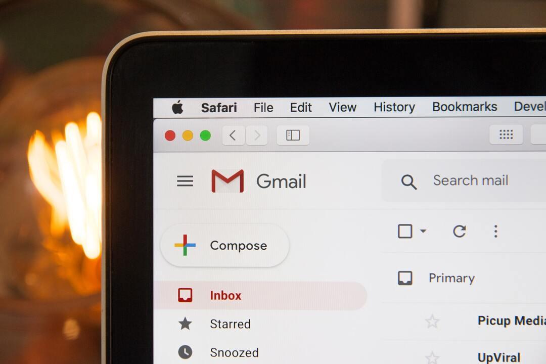 Gmail en la computadora