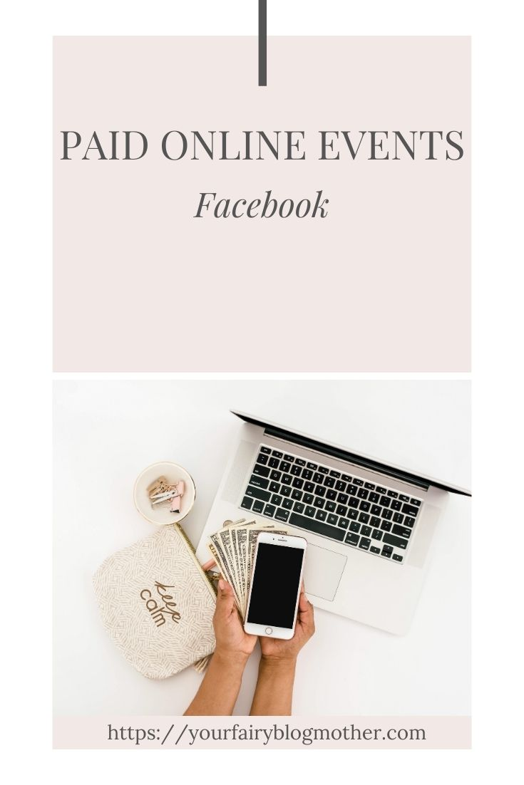 paid online events, pink and white