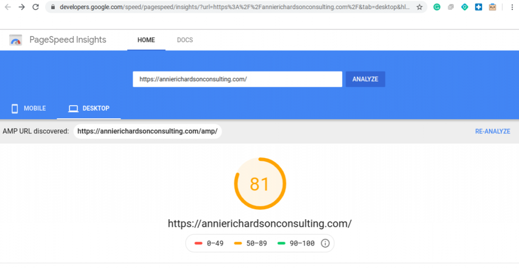 Image of PageSpeed Insights