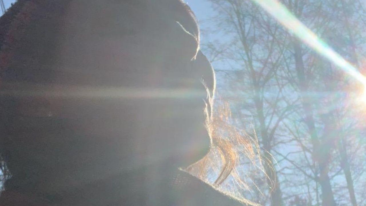 Angela Chambers in the Winter sun