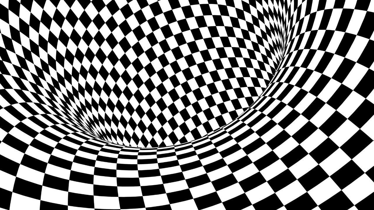 Geometric abstract illusion - fear is an illusion - fear is shadow which is an illusion of the truth