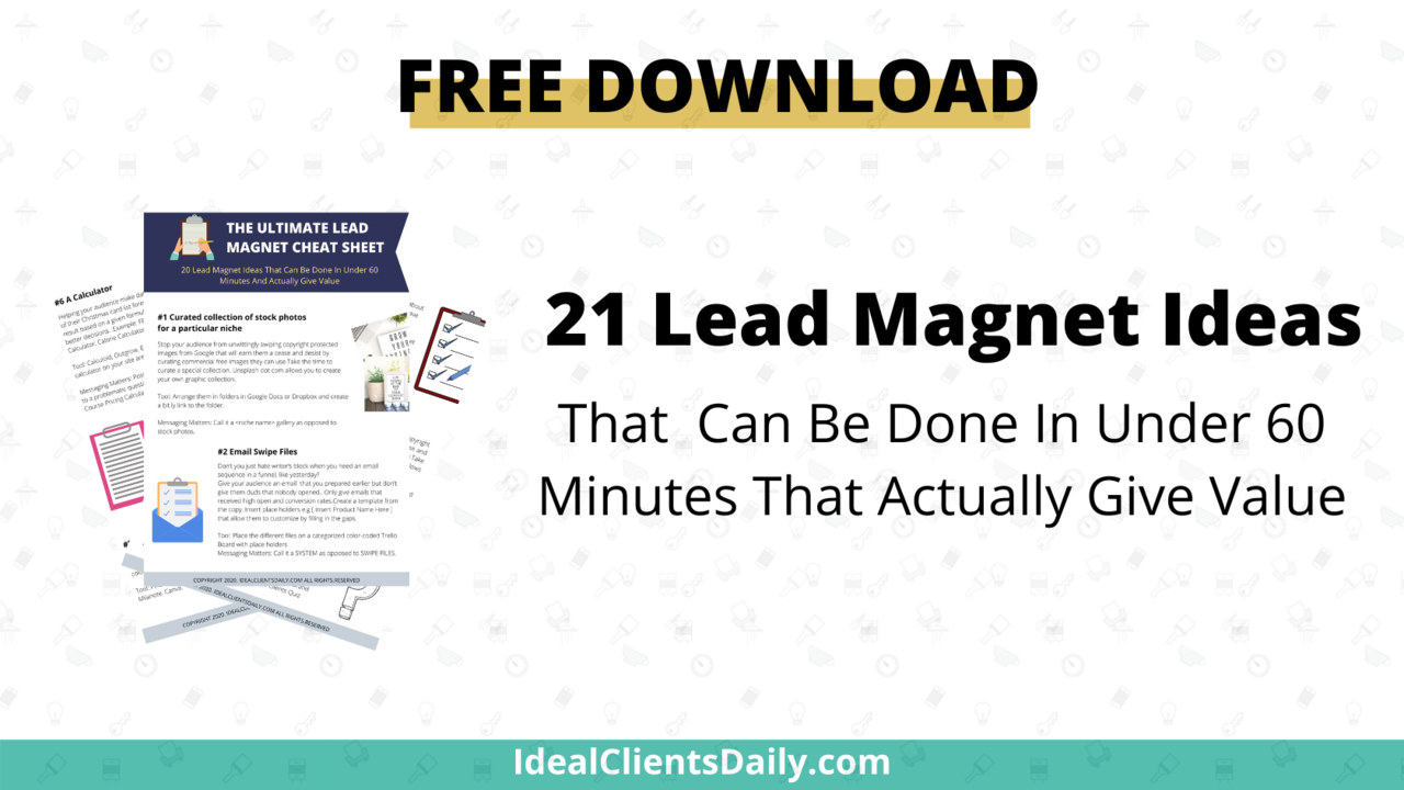 21 Lead Magnet Examples For 2020