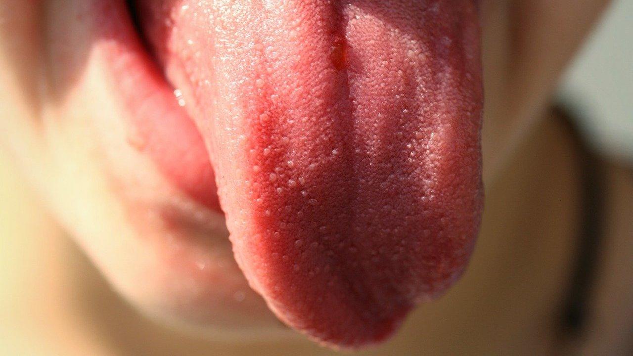 close up of tongue