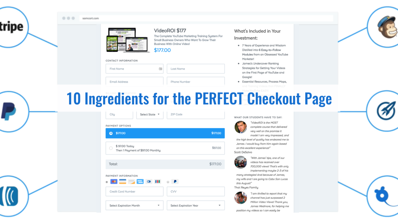 The Anatomy of the Perfect Checkout Page (10 Ingredients)