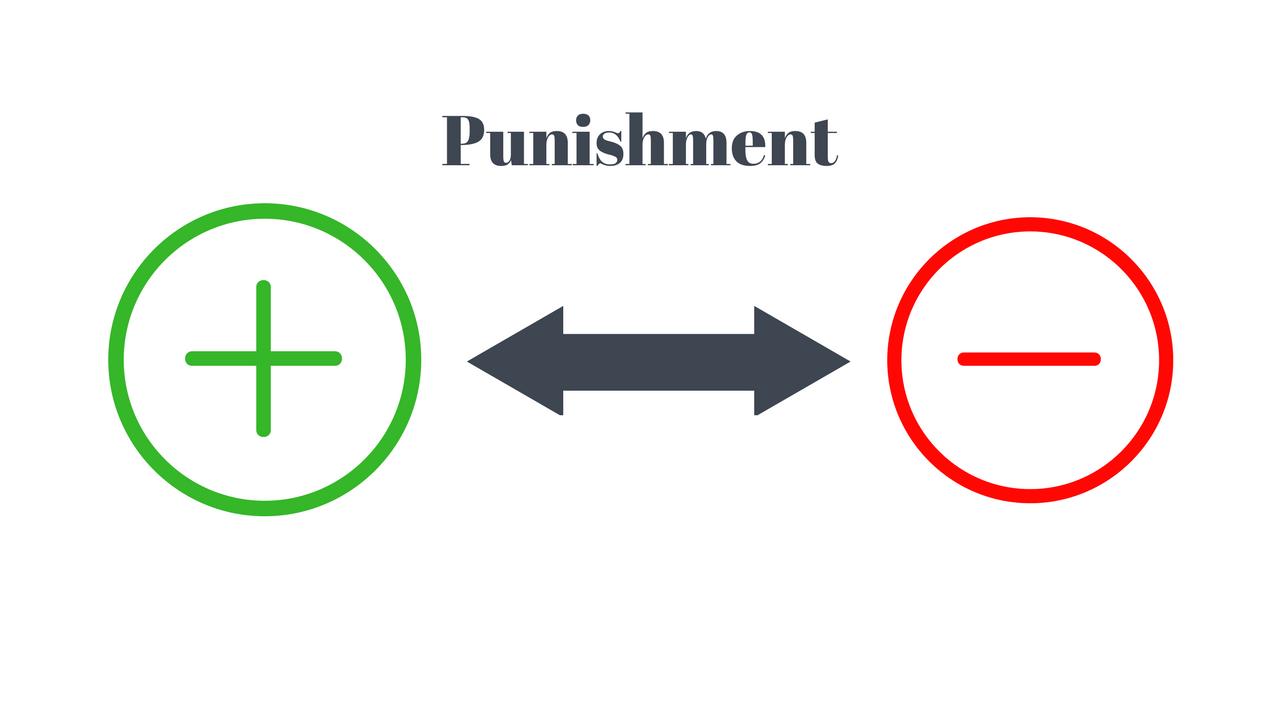 reinforcement vs punishment