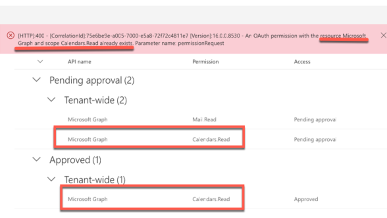 Consider Avoiding Declarative Permissions with Azure AD