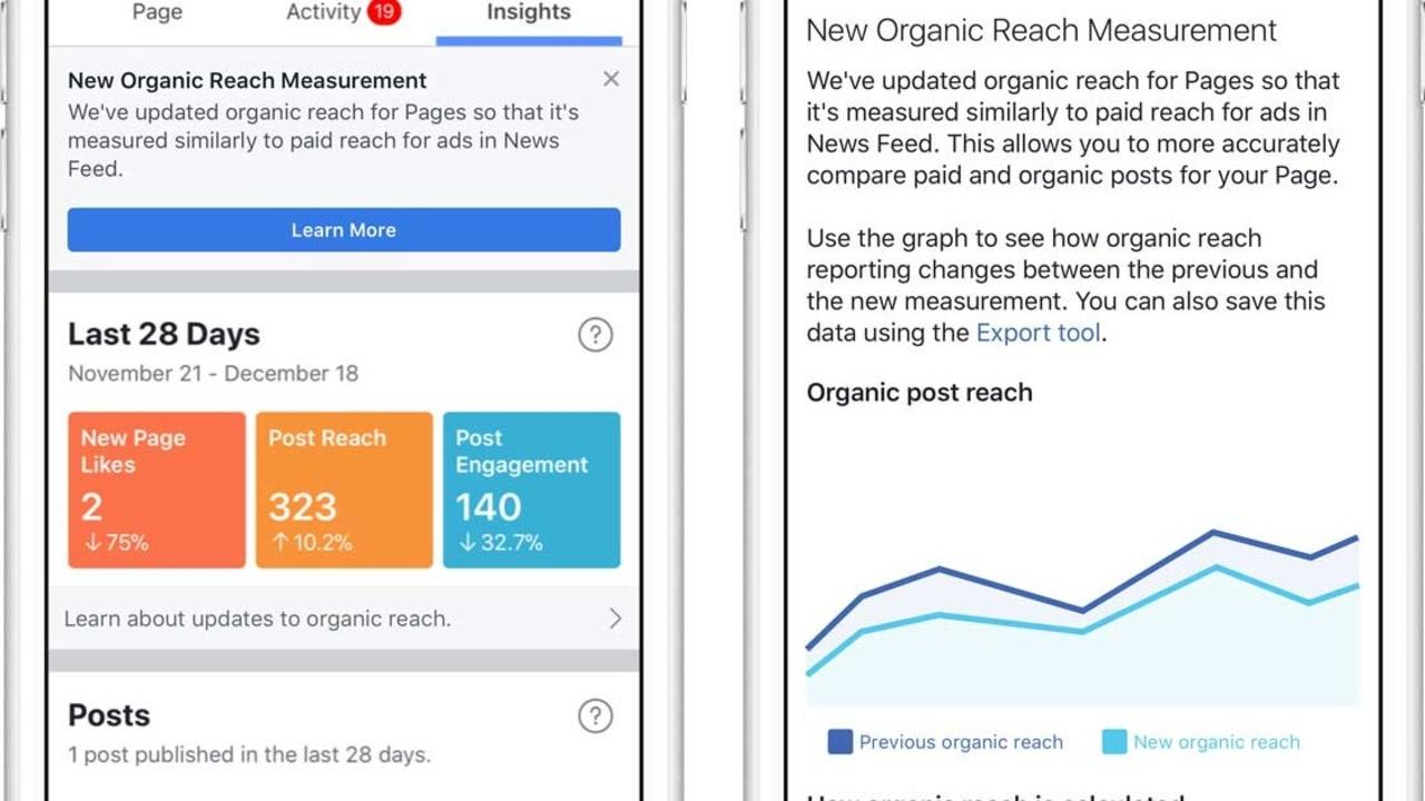 Facebook will start to count organic reach impressions on