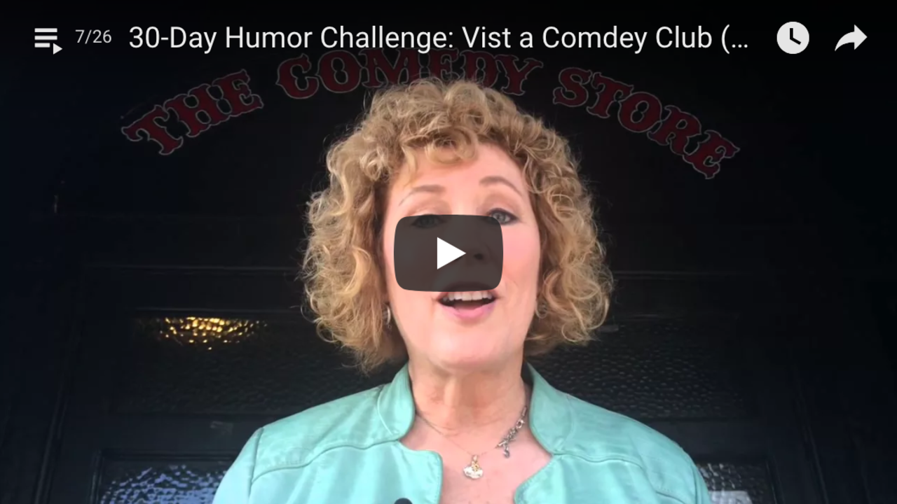 Visit a Comedy Club (Humor Challenge Day 19)