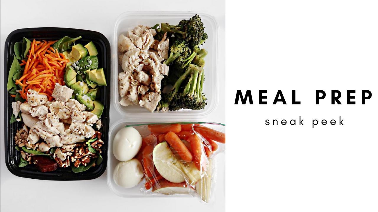 a look inside my weekly meal prep & grocery list