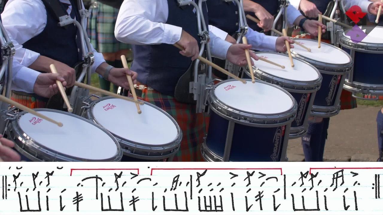 Simon Fraser University Pipe Band Drum Corps 2019 Sat. Medley WPBC