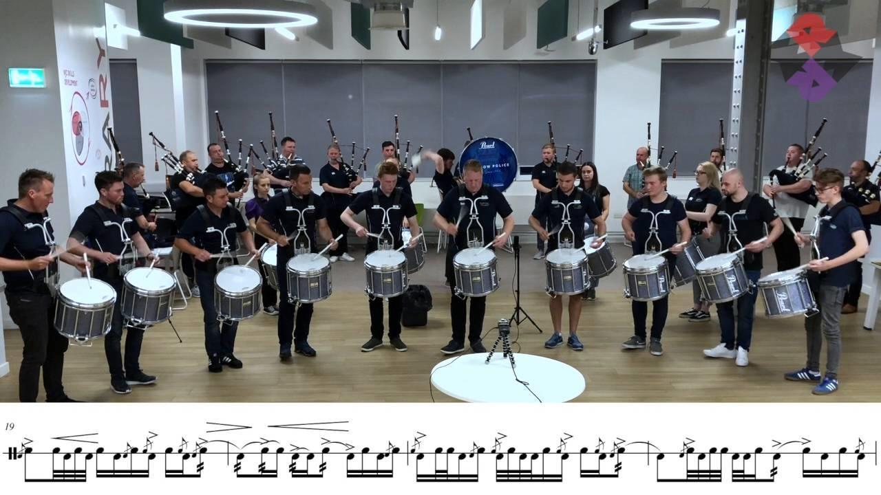 Glasgow Police 2018 WPBC Medley Rehearsal