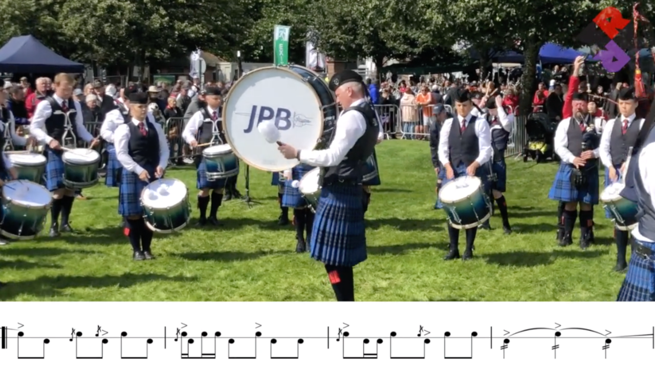 Johnstone Pipe Band 2019 Sat Medley Jig Transition