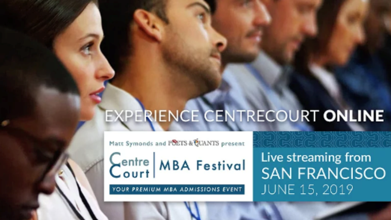 Pre-MBA admissions event streaming online | June 15, 2019 - Register