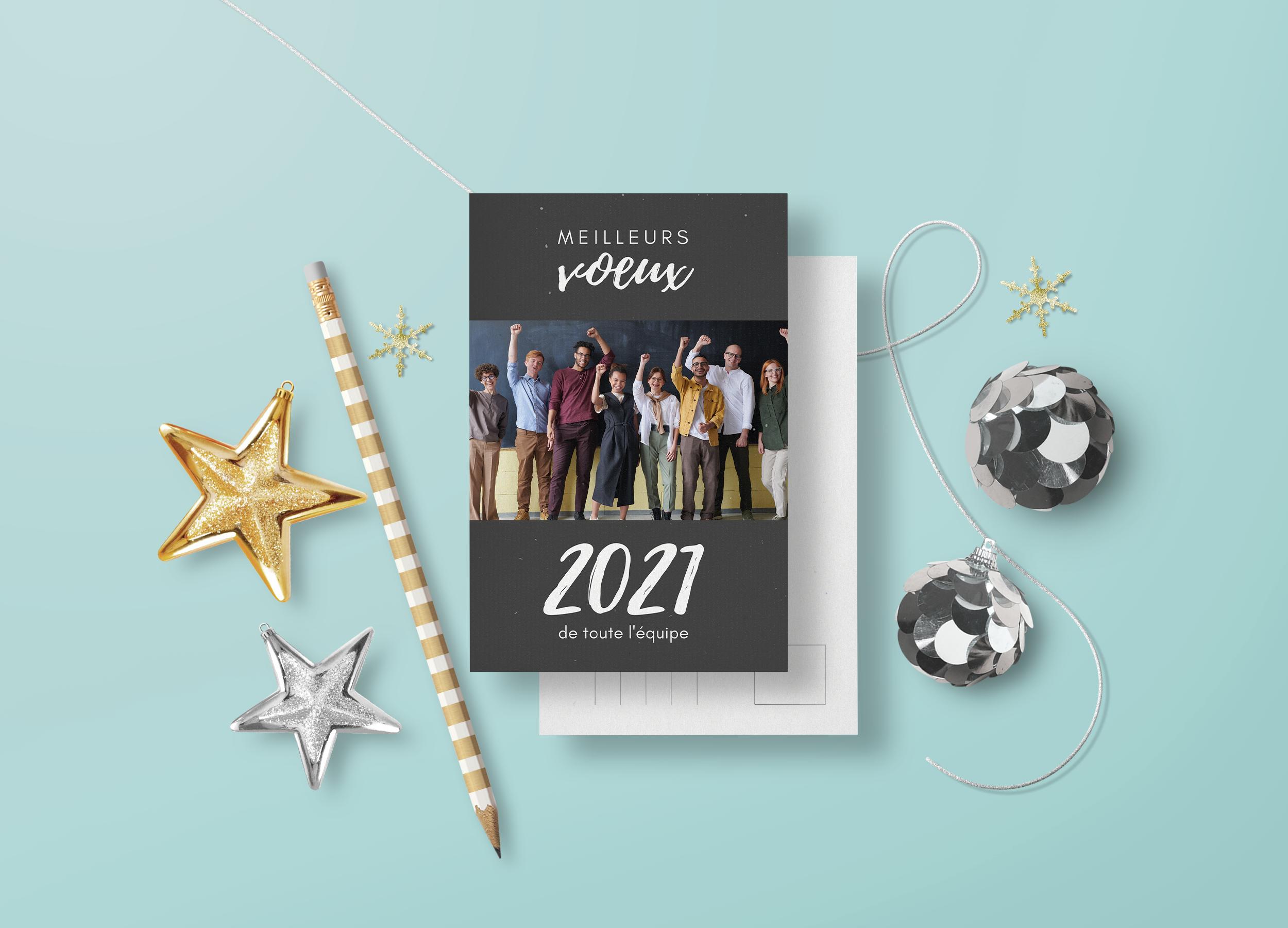 Cartes De Voeux 2021 6 Modeles Gratuits Pour Inspiration