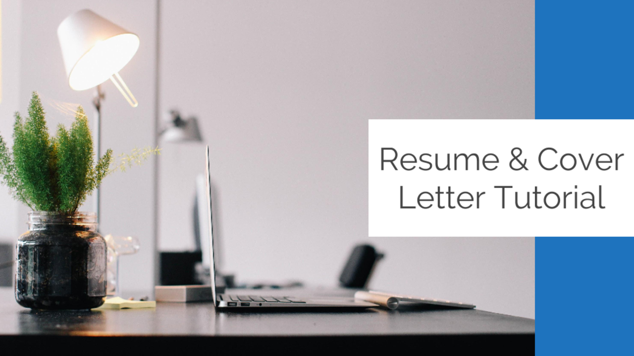 Resume Cover Letter Template Tutorial My Dream Job