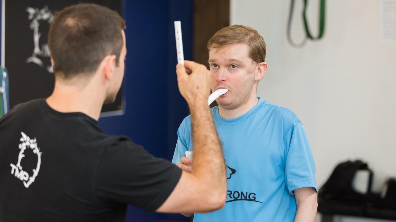 Vision and breath training post-double lung transplant