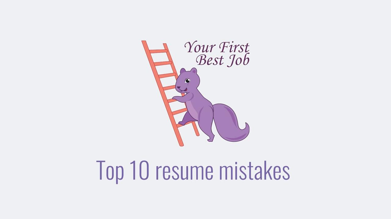 Captivating Top 10 Resume Mistakes. Job Search Resume Jan 04, 2018. Video Thumbnail