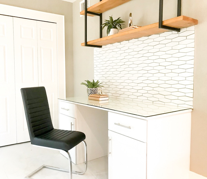 work from home space in a bedroom