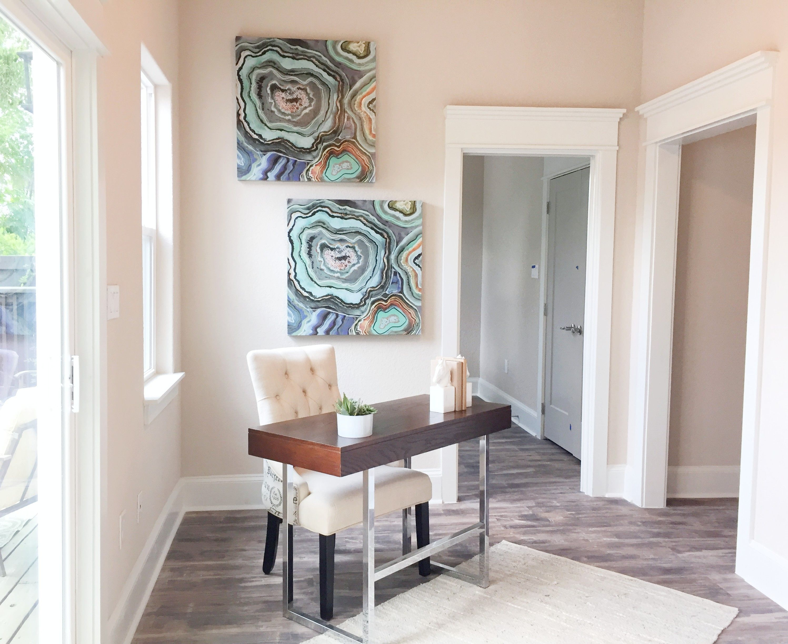hallway work from home space staging studio