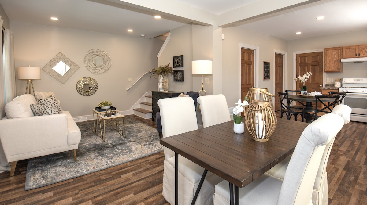 interior home decor that has been professionally staged