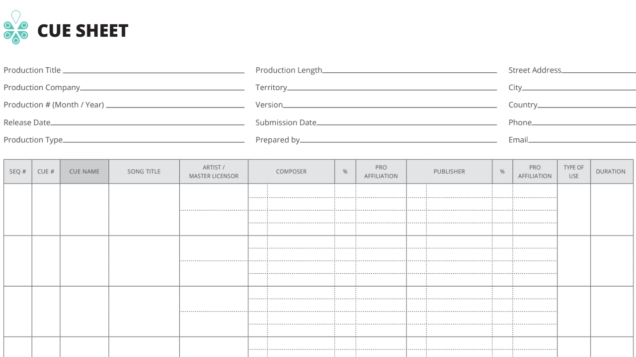 Why Cue Sheets are ESSENTIAL for Today's Songwriters