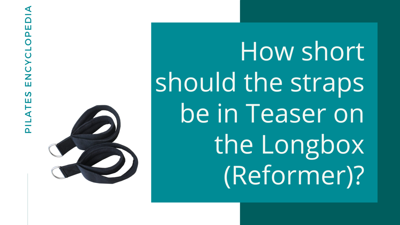 How short should the straps be in Teaser on the Longbox (Reformer)?