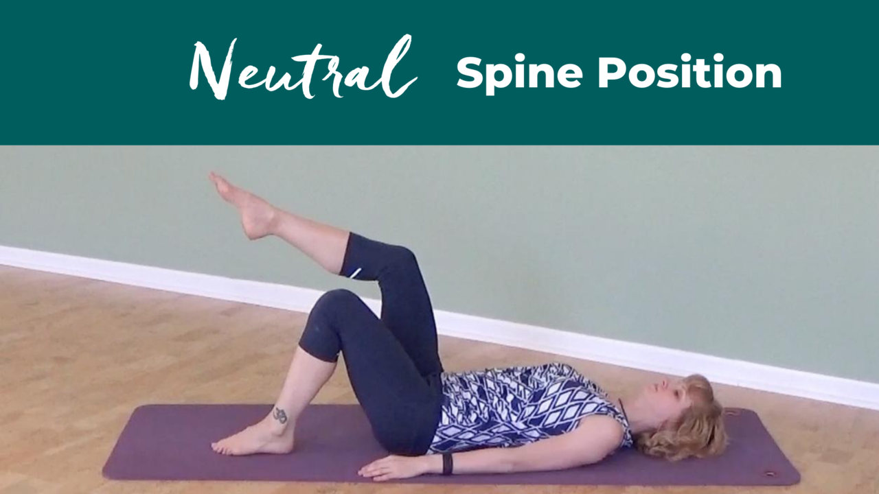 Pilates Neutral Spine Position