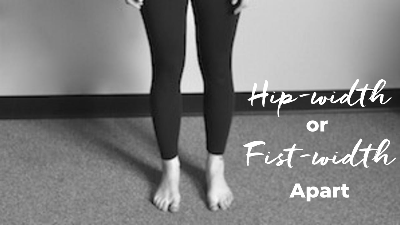 Hip-width apart or fist-width apart in Pilates
