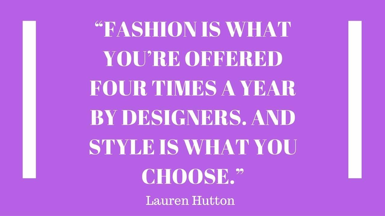Purple Quotes 100 Of The Best Inspiring Fashion Quotes