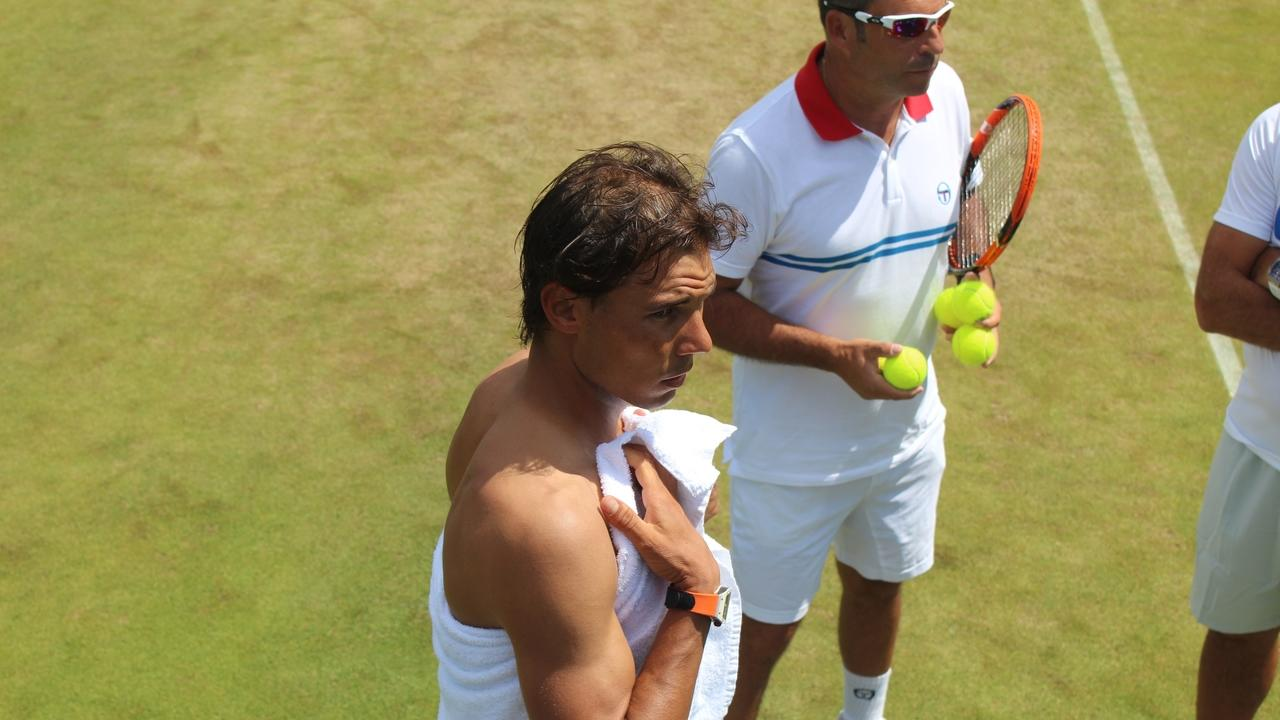 image of rafa nadal with tennis fitness