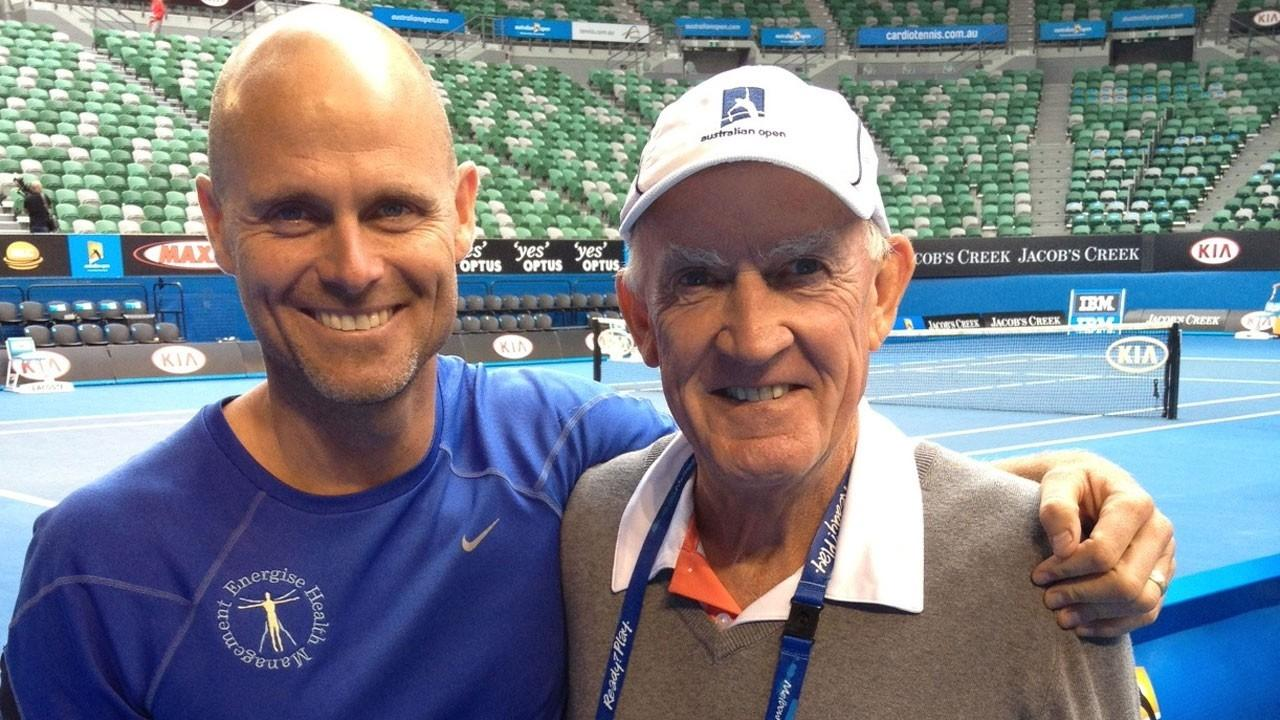 image of tennis trainer nathan martin and tony roche