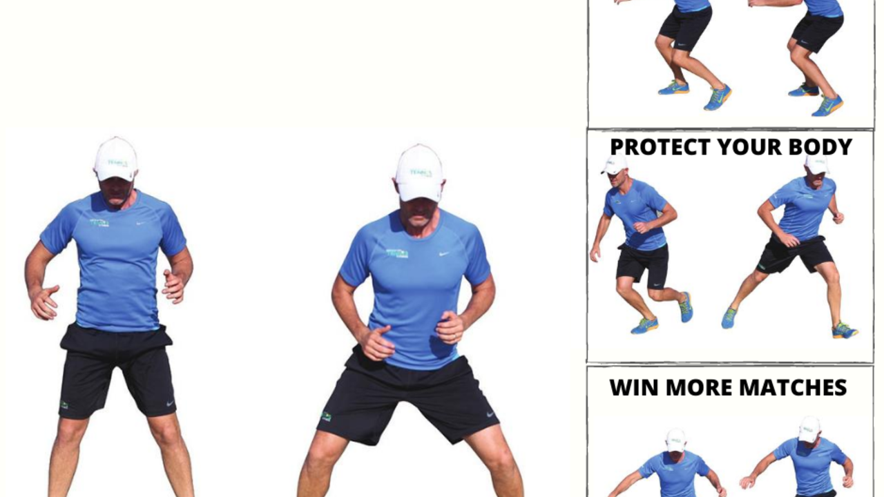 image of tennis footwork. Agility drills