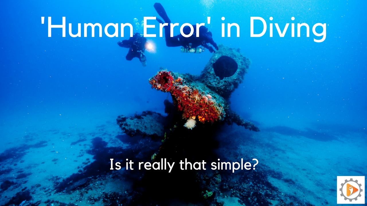 Human Error in Diving: Is it really that simple?