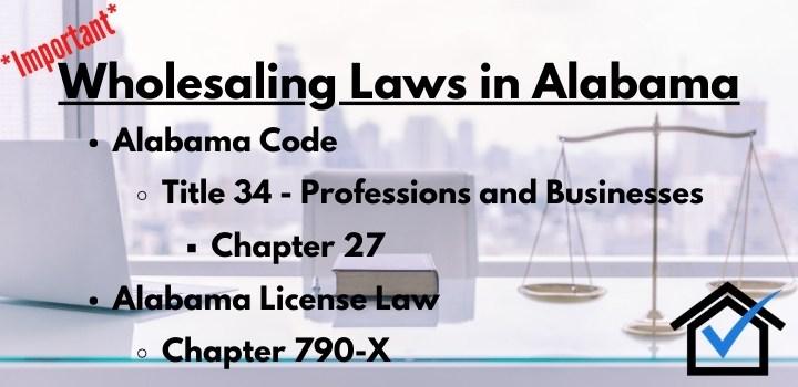 wholesaling laws Alabama