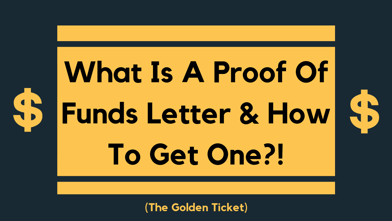 Proof Of Funds Letter: What Is A POF And How To Get One