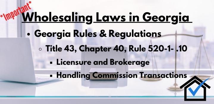 wholesaling laws georgia