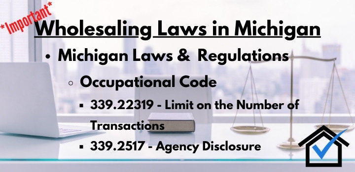 wholesaling laws Michigan