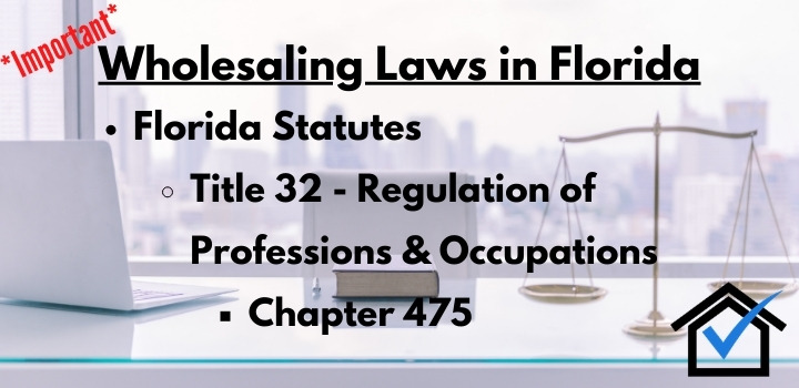 wholesaling laws Florida